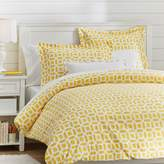 Pottery Barn Teen Peyton Duvet Cover, Twin, Yellow