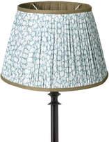 OKA 30cm Guilloche Pleated Cotton Drum Lampshade