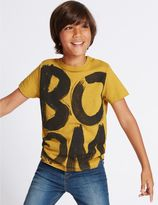 Marks and Spencer Pure Cotton Boom Print T-Shirt (3-14 Years)