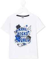 Karl Lagerfeld Rocks The World T-shirt - kids - Cotton - 2 yrs