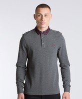 Fred Perry Oxford Collar Pique Long Sleeve Polo Shirt