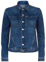 L'Agence Celine Metallic Back Denim Jacket