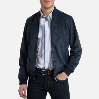 La Redoute Collections Faux Suede Bomber Jacket