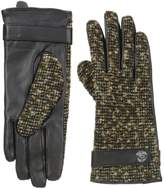 Calvin Klein Women's Lurex Tweed Leather Glove
