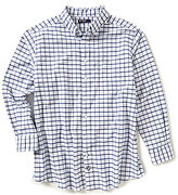 Daniel Cremieux Big & Tall Gingham Lightweight Washed Oxford Long-Sleeve Woven Shirt
