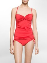 Calvin Klein Solid Twist Front Tankini Top