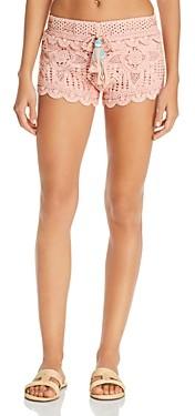 Surf.Gypsy Dusty Rose Crochet Swim Cover-Up Shorts