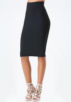Bebe Petite Knit Midi Skirt