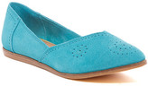 Toms Jutti Perforated Suede Flat