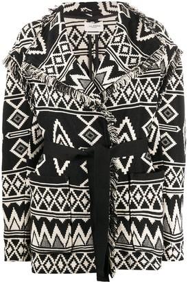 Etoile Isabel Marant Abstract Pattern Cardi-Coat
