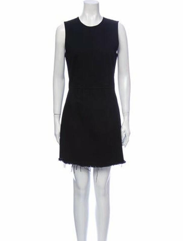 Thumbnail for your product : Denim X Alexander Wang Crew Neck Mini Dress Denim