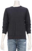 CLU TOO Belt Back Mix Media Sweatshirt