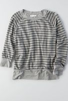 American Eagle Outfitters Don't Ask Why Distressed Terry Sweatshirt