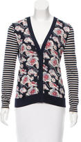 Tory Burch Wool Floral Patterned Cardigan