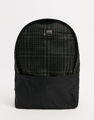 Peter Werth Chambers check wool rucksack