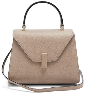 Valextra Iside Mini Leather Bag - Beige
