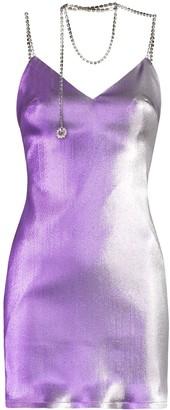 Area Crystal-Necklace Mini Dress