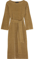 Vanessa Seward Chimerique Metallic Ribbed-Knit Midi Dress