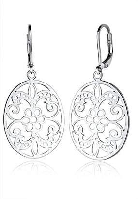 Elli Women Genuine Jewellery Earrings Dangle & Drop Ear Ornament 925 Sterling Silver