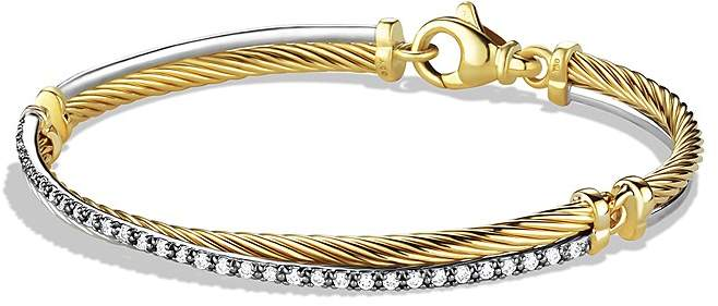 David Yurman Crossover Bracelet with Gold and Diamonds