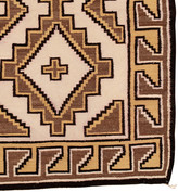Rejuvenation Two Cross Crystal Navajo Rug w/ Naturally Dyed Wool