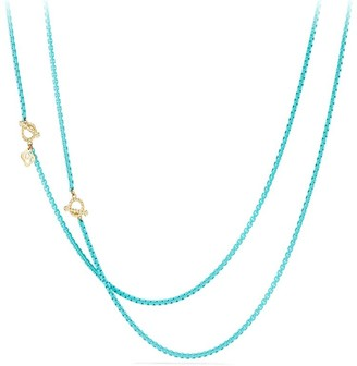 David Yurman Bel Aire Chain Necklace in Acrylic with 14K Yellow Gold Accents