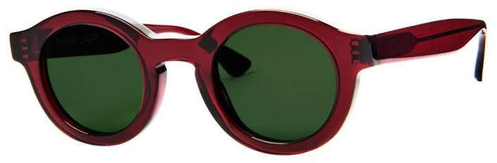 Thierry Lasry burgundy and green olympy sunglasses