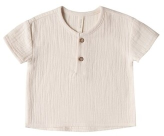 Quincy Mae Baby Henry Top - Pebble - Size 6 - 12 Months
