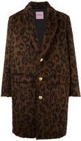 Palm Angels leopard print coat