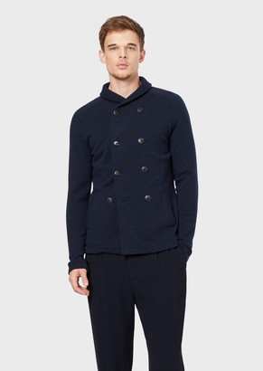 Giorgio Armani Knitted Double-Breasted Jacket With Shawl Collar