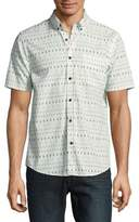 Howe Tropical Print Cotton Casual Button-Down Shirt