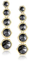 Rachel Zoe Cleo Gold-Plated Pyramid Drop Earrings