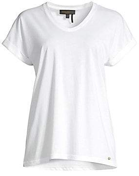 Donna Karan Women's V-Neck Cotton Tee