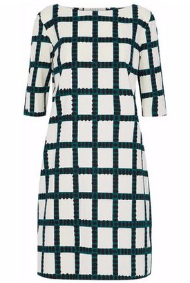 Marni Checked Cotton Mini Dress