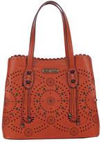 Nicole Lee Women's Tanushri Eye-Let Cut Scallop Shopper Bag