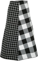 Le Ciel Bleu checked jacquard midi skirt
