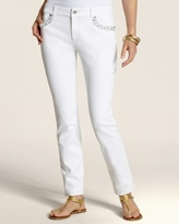Chico's So Slimming By Rhinestone Shine Ankle Jean