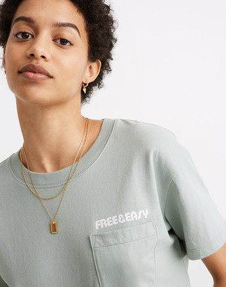 Madewell x Free & Easy Sunset Graphic Easy Crop Tee