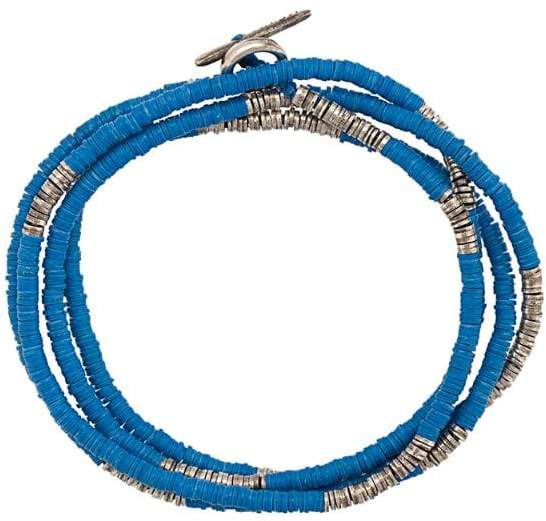 M. Cohen Mini Disc and African beads bracelet