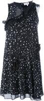 Carven ruffled detail dress - women - Silk/Polyester/Acetate - 34