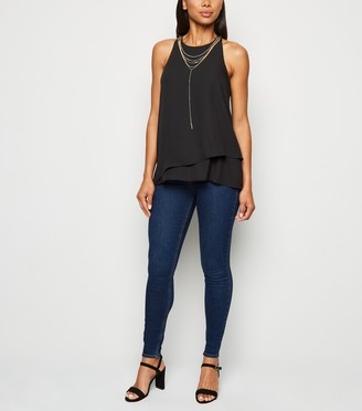 New Look Double Layer Necklace Blouse