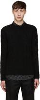 Alexander McQueen Black Cableknit Sweater
