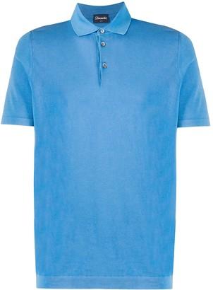 Drumohr Woven Polo Shirt