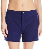 adidas Women's Solid Woven Swim Short Bikini Bottom