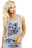 Mate The Label Keep On Keepin' On Lou Tank in Heather Grey
