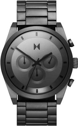 MVMT Men Chronograph Carbon Gray Gunmetal Ion-Plated Steel Bracelet Watch 44mm