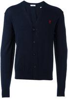 Ami Alexandre Mattiussi - embroidered logo cardigan - men - Wool - XS