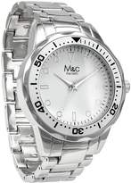 MC M&c Ferretti Men's | Fashion Sport watch Stainless Steel Tachymeter White Dial Watch With adjustable Bracelet | FT14902