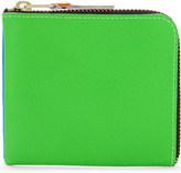 Comme des Garcons Super fluorescent leather half zip wallet