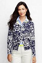 Classic Women's Tall Supima Colorblock Cardigan Sweater-Washed Plum Heather